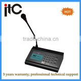 Digital network ip paging microphone for ip public address system