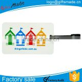 wholesale printable luggage tag/plastic luggage tag/fancy pvc luggage tag