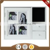 white photo frame jewelry cupboard wooden box