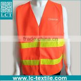 OEM service supply type CE/EN471 CLASS 2 certificated traffic safety high visibility reflective vest with custom print(LCTN1574)