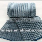 knit blue man cashmere scarf