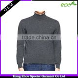 16FZCAS22 turtle neck flat knitted cashmere sweater men