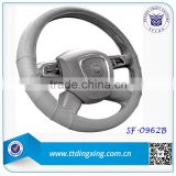 Factory Manufacture 2014 Leather Car 14 inch Design your Steering Wheel Cover Handle Cover Accessoire Automobile