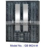 Mirrorred Wardrobe Bedroom Furniture, MDF Wardrobe Closet, Wooden Almirah Designs With Mirror