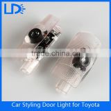 Hot selling 12v wireless led car door logo laser projector light for toyota