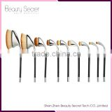 High reliable hot selling foundation brush 9pcs Oval Makeup Brush Tools carbon brush for power tools