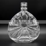 375ml Fancy Crystal Clear Whisky Bottle, Premium Glass Bottle wholesale for Liquor