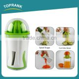 Toprank New Products Gadget Multifunction 4 in 1 Vegetable Fruit Spiral Slicer With Screw Hand Press Juicer