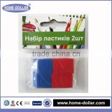 cheap red and blue easy clean personalized environmental ink rubber eraser