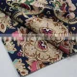 NAVY MULTI-COLOR PAISLEY TR fabric for suits