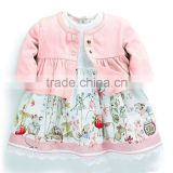 2013 lastest girls autumn spring style High quality children baby girl suit dress 2 Sets