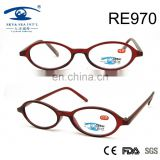 2017sell well newest red fashionable oval frame PC reading glasses