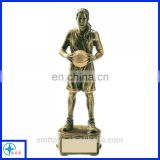 basketball trophy for girl/women/male resin sports trophy