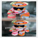 Best Love colorful knitted tiny plush ted bear