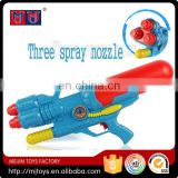 2016 funny series toys summer water gun with three spray nozzle for kids high quality