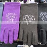 2016 hot sale thicken ladies cheap warm cashmere driving gloves