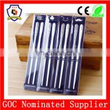 promotional gift bulk chopsticks cute smiling face cutlery set, stainless steel chopsticks Japanese chopsticks (HH-spoon-150)