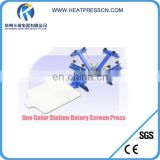 4 Color 1 Station manual silk Screen printing press machine