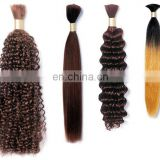 Grade 10A Brazilian Deep Wave Hair Bulk Human Hair for Braiding Any Color Is Available