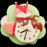 2016 New Cartoon Painting Clock DIY Wooden Promotional Wall Clock