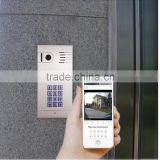 WIFI IP door intercom with stable internet platform,apply to IOS and android system,supporting remote controllinga on App