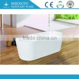 Oval free standing One Person Designs Acrylic White Romantic Bathtub With Shower, Indoor oval hot tub spa