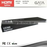 Gaia full HD 3D 1080P 16-Port HDMI Splitter Amplified Powered Splitter / Signal Distributor 1X16