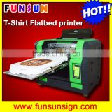 Digital flatbed direct jet T shirt Printer in A3 Size for Tshirt printing