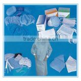 Disposable pp laminated non-woven fabric surgical protective set