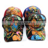 Wholesale Custom Warm Polar Fleece Printed Fashion Women Curve Brim Baseball Cap