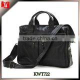 Business Leather 12.5 inch laptop bag for men porte-documents bags Italian leather portfolio bag