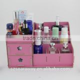 wooden makeup organizer jewelry storage organizer