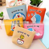 China manufacturer animal shaped leather coin purse Doraemon silicone mini coin purse