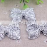 2014 Newest resin rhinestones bow beads! wholesale resin bow shaped beads for kids necklace jewelry!