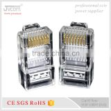 JVCOM RJ45 UTP Modular Plug for Cat6 Cable connector plug Gold-Plating Solid Pure Copper nickelplate