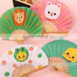 Japanese folding bamboo fan with your OEM pictures as you need