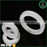 Low price custom precision machined spare parts high desity glass fiber plastic ptfe teflon wheel o rings