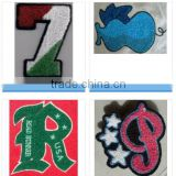 Hot Sale embroidery chenille letter patch