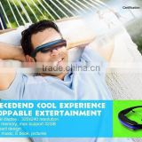 Stylish wireless video googles VG280, private cinema digital video glasses