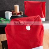 Santa's Hat Christmas Chair Covers /Hot Sale cheapest back polyester cap/red color top cover