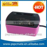 Hot design !!! usb hub combo card reader driver for SD ,TF ,usb with laser logo