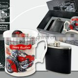 CARMANI gift set - mug & hip flask OLD VEHICLES design