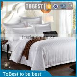 ToBest hotel bedding Wholesale 100% Egyption cotton stripe hotel linen / bedding sets / bed sheet