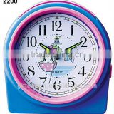 analog flashing music bell plastic snooze desk alarm clock