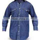 2014 hot trend denim work shirts