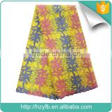 New designs net material for dresses / stones teal yellow african tulle lace fabrics / french lace for party