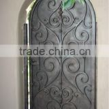 Top-selling Arch top square top wrought iron entry door