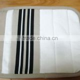 printed cotton pot holder black with strip oven mit for promotion and kitchen