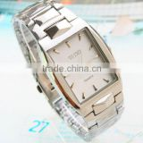 New fashion stainless steel quartz men watch,analog display rectangle man alloy watches
