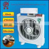 10 Inch fan led rechargeable electric portable usha rechargeable fan